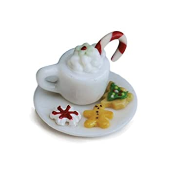 Itsy Bitsy Hot Chocolate Set Fairy Garden Village Accessories Pieces Decoration Dollhouse