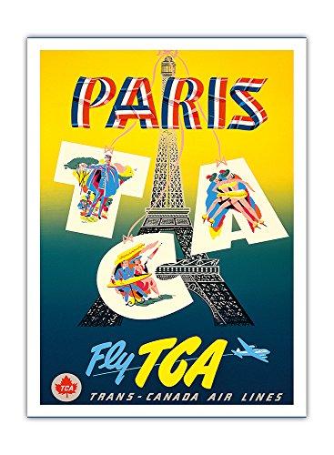 paris-fly-tca-volez-avec-tca-trans-canada-air-lines-tour-eiffel-airline-affiche-vintage-de-voyage-vi