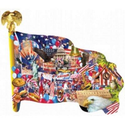 Cheap SunsOut Freedom Parade Flag Shaped Jigsaw Puzzle 1000 pcs (B004W9LFRM)