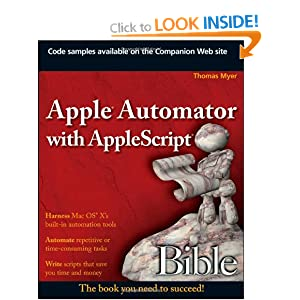 Apple Automator with AppleScript Bible 2009 eBook
