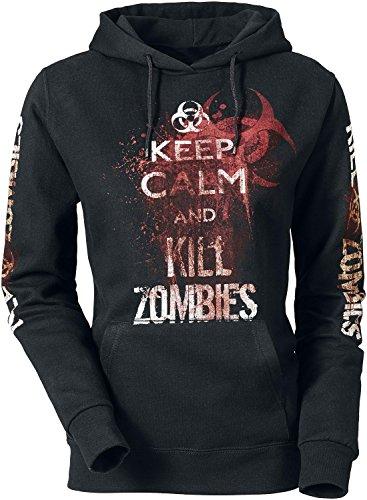 Keep Calm And Kill Zombies Felpa donna nero XL