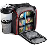 Meal Prep Haven MealPak Portion Control Bag & Containers Set with Ice Pack & Protein Shaker