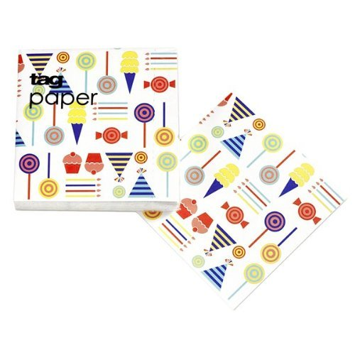Tag Modern Design Party Paper Beverage Paper Napkins 20Ct