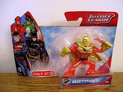 Justice League Mini Batman Figure Exclusive Red and Gold Paint - 1