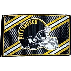 Pittsburgh Flag Mesh W/ Helmet 3' X 5' at Steeler Mania