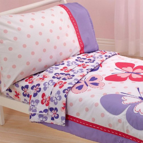 Carter'S 4 Piece Toddler Bed Set, Butterfly