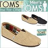 (トムズ シューズ)TOMS SHOES スリッポン BURLAP MEN'S CLASSICS バーラップ クラシック 001004A M9.5(約27.5cm) Black (並行輸入品) [並行輸入品]