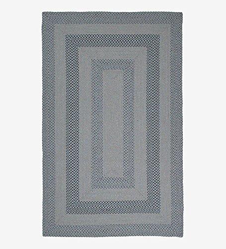5' x 8' Oval Indoor/Outdoor Polypropylene Braided Rug, in Multi