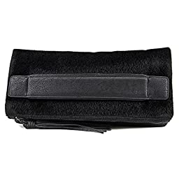 BCBGeneration Ready To Roll Foldover Clutch, Black, One Size