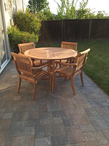 5 PC A Grade Outdoor Patio Teak Dining Set - 48