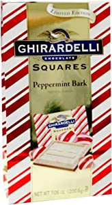 Ghirardelli Peppermint Bark Squares Limited Edition 7.06oz.