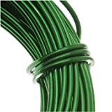 BeadSmith WCR-4110 11.8m Aluminum Craft Wire, Kelly Green, (12 gauge/39ft) (Color: Kelly Green, Tamaño: 12 gallon/39')