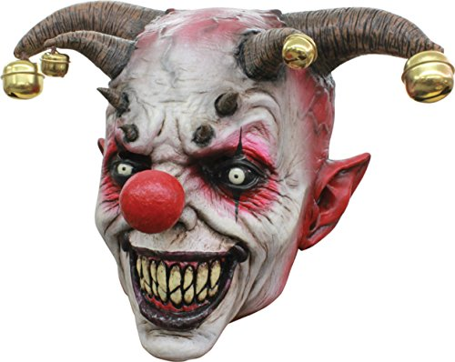 Jingle Jangle Psycho Evil Jester Clown Latex Adult Halloween Costume Mask