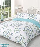 Stephanie Reversible Summer Butterfly Super King Bed Size Duvet Cover Set