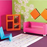 Dolls House Emporium - 1:12 Funky Living Room Set 5349