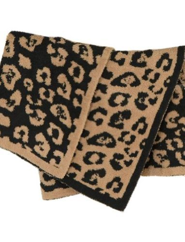 Barefoot Dreams Leopard Cozychic Receiving Baby Blanket front-310101