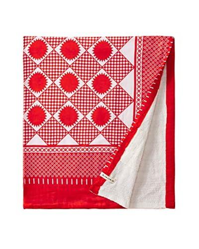 Nomadic Thread Swahili Towel, Red/White