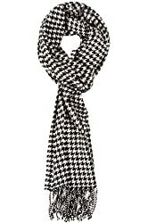 TitFus New Softer Than Cashmere Acrylic Fashion Houndstooth Scarf Shawl Wrap Unisex