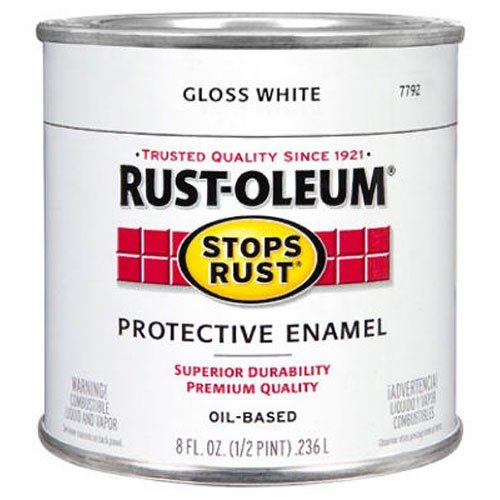 Rust-Oleum 7792730 Protective Enamel Paint, 8-Ounce, Gloss White (White Paint Outdoor Wood compare prices)