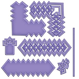 Cut, Fold And Tuck Spellbinder Paper Arts Diamond Strips and Accents Die Template