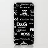 iPhone5/iPhone5S/ケース/ブランドロゴ/ブラック/SoftBank/au/docomo/耐衝撃/スマホ/カバー
