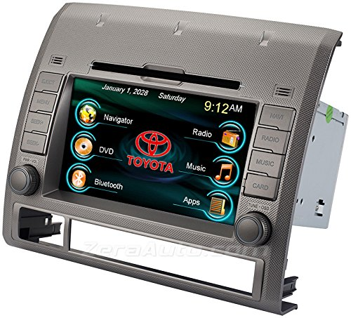 05 06 07 08 09 10 11 12 Toyota Tacoma In-Dash GPS Navigation Stereo DVD CD Player Radio 7 Inch Touchscreen Bluetooth AV Receiver USB SD iPod iPhone Install Ready Multimedia Deck OE Fit Head Unit (Toyota Tacoma Stereo System compare prices)