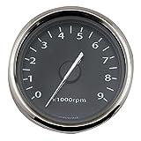 デイトナ(Daytona) 電気式タコメーター ホワイトLED照明(9000rpm/ブラックパネル)【汎用】 65705