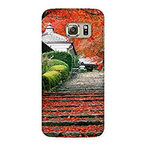 Cute Stairs Garden Multicolor Back Case Cover for Samsung Galaxy S6 Edge