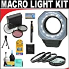 Digital Ring Light For Macro Photography + +1 +2 +4 +10 Close-Up Macro Filter Set with Pouch + High Resolution 3-piece Filter Set (UV, Fluorescent, Polarizer) + 6-Piece Deluxe Cleaning Kit + Lenspen Cleaning Tool + Deluxe DB ROTH Accessory Kit For The Nikon D3X, D3, D2Xs, D2Hs, D2X, D2H, D3, D40, D40X, D50, D60, D70, D80, D90, D100, D200, D300, D700 Digital SLR Cameras Which Have Any Of These (18-135mm, 18-105mm, 18-70mm, 16-85mm) Nikon Lenses