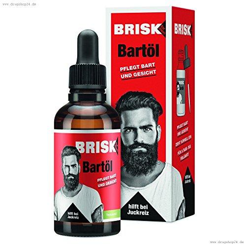 BRISK Bartöl 50 ml Pflegeöl für alle Bartlängen
