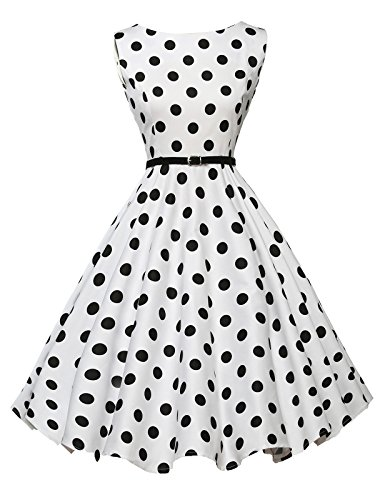 Sleeveless Picnic Dress for Teens Short Polka Dots Size XS F-6
