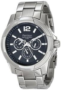 Armitron Men's 20/4910BKSV Multi-Function Silver-Tone Stainless Steel Bracelet Watch