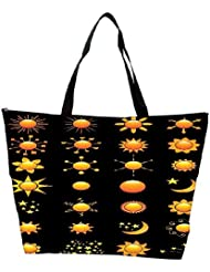 Snoogg Sun Vectors Waterproof Bag Made Of High Strength Nylon