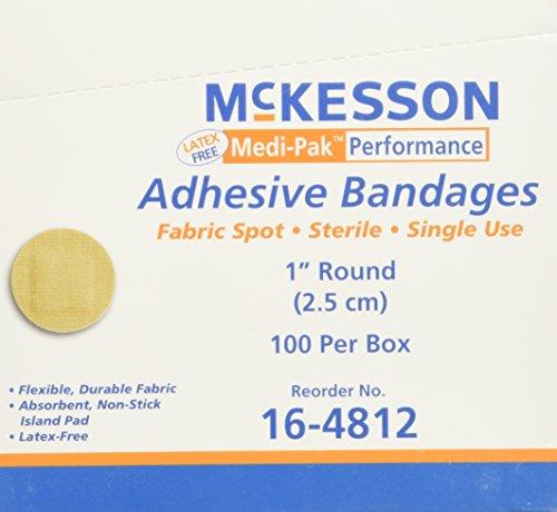 mckesson-medi-pak-performance-bandage-adhesive-fabric-spot-round-1-latex-free-box-of-100