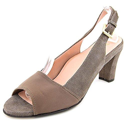 09. Taryn Rose Karol Square Toe Leather Slingback Heel