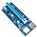 Fasterfish(TM) USB 3.0 Pcie PCI-E Express 1x To 16x Extender Riser Card Adapter Power BTC Cable