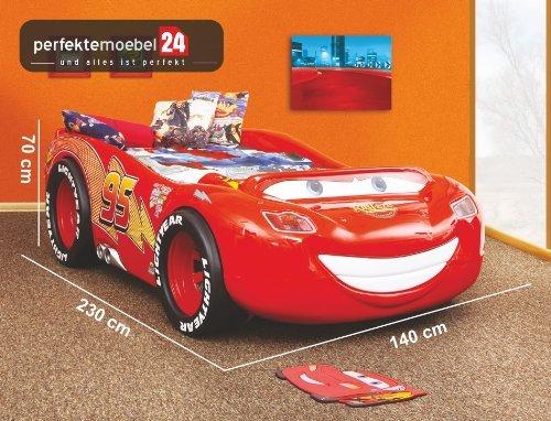 Mc Queen Bett ABS Autobett Kinderbett Spielbett inkl. Lattenrost und Matratze kurze Lieferzeit! jetzt kaufen