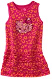 Hello Kitty Girls 2-6X Toddler Knit Dress In Leopard Print With Rhinestones, Fuschia Purple, 4T