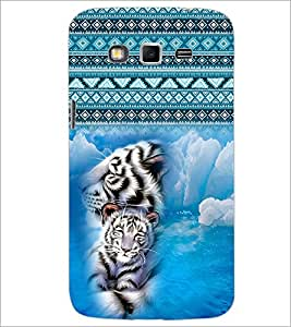 PrintDhaba White Tiger D-4087 Back Case Cover for SAMSUNG GALAXY GRAND 2 (Multi-Coloured)
