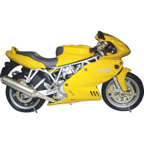 New Ray Ducati Super Sport 1000DS Replica Motorcycle Toy - Yellow / 1:12 Scale