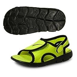 Nike Toddler\'s Sunray Adjust 4 Sandal Volt/Black 10C