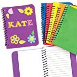 Foam Spiral Bound Notebook 30 Pages Assorted Colors For Children To Decorate & Personalise (Pack Of