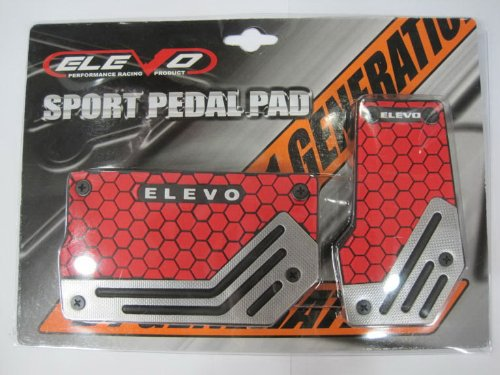 Elevo - Jet Red Racing Pedal Covers Automatic , Pedal Set in Automotive