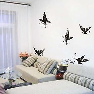 Amazon.com: Vinilo Arte Tatuajes de pared para Parvulario, Mariposa