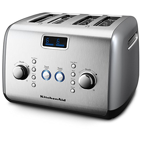 KitchenAid KMT423CU 4-Slice Toaster with One-Touch Lift/Lower and Digital Display - Contour Silver (Kitchenaid Architect Toaster Oven compare prices)
