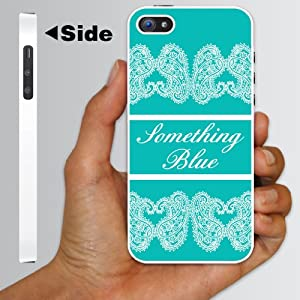 "Bride to Be iPhone Design ""Something Blue"" – WHITE Protective iPhone 5 Hard Case"