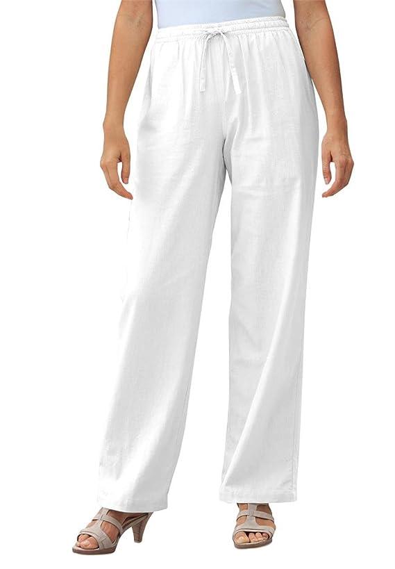 Women's Plus Size Pants In Cool Linen Blend