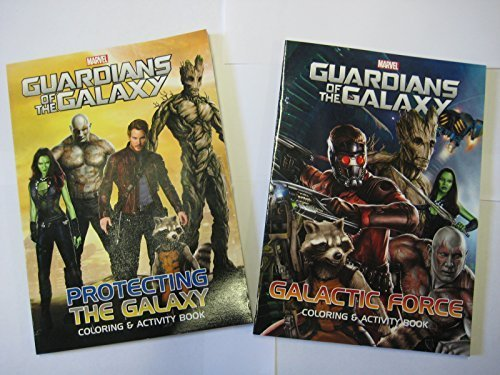 Guardians of the Galaxy Coloring & Activity Book Set Marvel (2 Pack) Galactic Force and Protecting the Galaxy