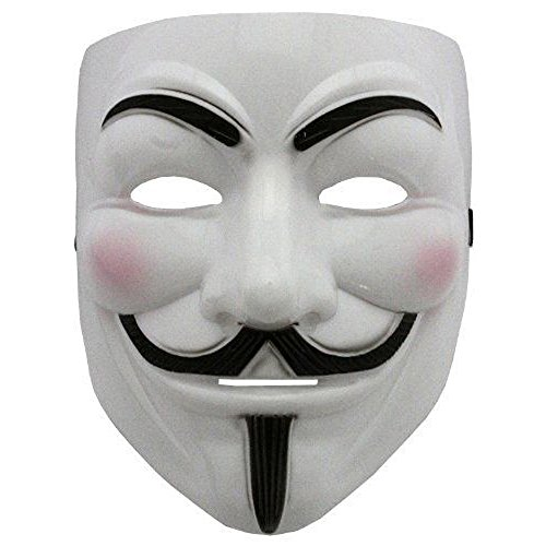 2015 NEW V wie Vendetta Maske mit Eyeliner Nostril Anonymous Guy Fawkes Fancy Adult Kostüm Zubehör Halloween-Maske Boolavard Ltd