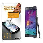 Galaxy Note 4 Tempered Glass Screen Protector - JOTO Galaxy Note 4 0.33 mm Rounded Edge Tempered Glass Screen Protector Film Guard for Samsung Galaxy Note 4, SM-N910 (2014) International and Unlocked (1 Pack)